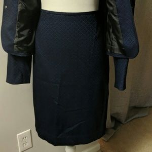 Tahari Jackets & Coats - Navy Blue 2Piece Skirt Suit